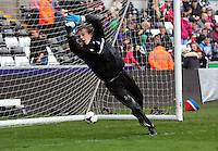 Wednesday, 23 April 2014<br /> Pictured: Louis Moore.<br /> Re: Swansea City FC are holding an open training session for their supporters at the Liberty Stadium, south Wales,