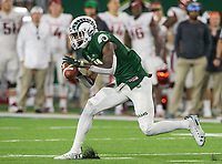 NWA Democrat-Gazette/BEN GOFF @NWABENGOFF<br /> Preston Williams, Colorado State wide receiver, catches a pass in the 4th quarter vs Arkansas Saturday, Sept. 8, 2018, at Canvas Stadium in Fort Collins, Colo.