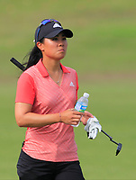 Danielle Kang (USA) in action on the 1st during Round 3 of the HSBC Womens Champions 2018 at Sentosa Golf Club on the Saturday 3rd March 2018.<br /> Picture:  Thos Caffrey / www.golffile.ie<br /> <br /> All photo usage must carry mandatory copyright credit (&copy; Golffile   Thos Caffrey)