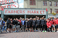 USMNT at Pike Place Fish Market, June 15, 2016