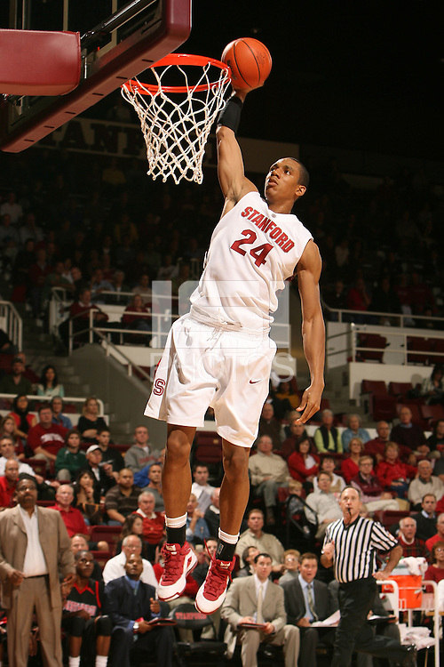 Stanford, CA - NOVEMBER 18:  Forward Josh Owens #24 of the Stanford Cardinal during Stanford's 103-85 win against the Cal State Northridge Matadors on November 18, 2008 at Maples Pavilion in Stanford, California.