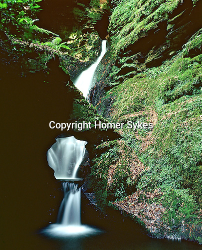 St Saint Nectans Nectan Waterfall, Nr Boscastle, Cornwall. Uk. Celtic Britain published by Orion