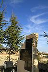 Israel, Upper Galilee, a memorial to a fallen soldier on Mount Meron