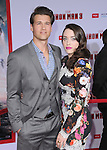 Kat Dennings and Nick Zano  at The World Premiere of Marvel's Iron Man 3 held at The El CapitanTheatre in Hollywood, California on April 24,2013                                                                   Copyright 2013 Hollywood Press Agency
