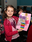 Julia Kuznicka at the Easter Craft Workshop in Drogheda Library.<br /> <br /> Photo: Jenny Matthews