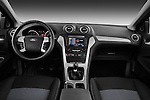 Straight dashboard view of 2011 Ford Mondeo Trend Wagon Stock Photo