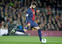 FC Barcelona's Gerard Pique during Copa del Rey - King's Cup semifinal second match.February 26,2013. (ALTERPHOTOS/Acero) /NortePhoto