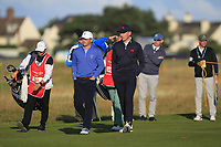John Augenstein (USA) and Euan Walker (GB&I) on the 2nd during Day 2 Foursomes of the Walker Cup, Royal Liverpool Golf CLub, Hoylake, Cheshire, England. 08/09/2019.<br /> Picture Thos Caffrey / Golffile.ie<br /> <br /> All photo usage must carry mandatory copyright credit (© Golffile | Thos Caffrey)