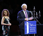 Bernadette Peters and Victor Garber during the 74th Annual Theatre World Awards at Circle in the Square on June 4, 2018 in New York City.