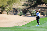 Xander Schauffele (USA) on the 3rd during the 2nd round of the Waste Management Phoenix Open, TPC Scottsdale, Scottsdale, Arisona, USA. 01/02/2019.<br /> Picture Fran Caffrey / Golffile.ie<br /> <br /> All photo usage must carry mandatory copyright credit (© Golffile | Fran Caffrey)