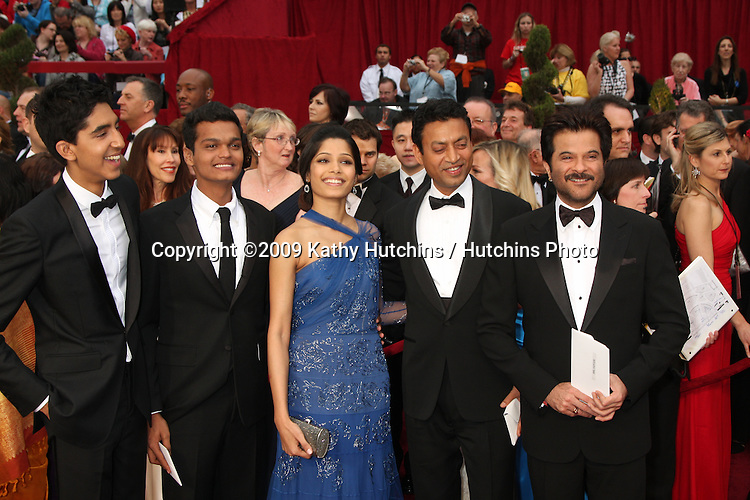 Slumdog Millionaire Cast arriving at the 81st Academy Awards at the Kodak Theater in Los Angeles, CA  on.February 22, 2009.©2009 Kathy Hutchins / Hutchins Photo...                .