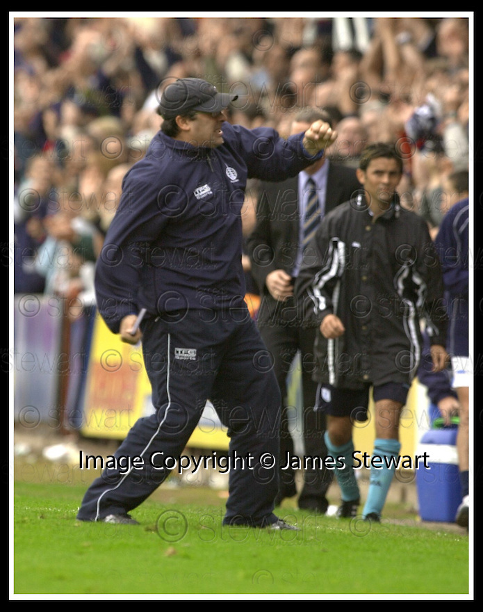 28/9/02       Copyright Pic : James Stewart                     .File Name : stewart-falkirk v st j'stone 26.IAN MCCALL CELEBRATES AT THE END OF THE GAME....James Stewart Photo Agency, 19 Carronlea Drive, Falkirk. FK2 8DN      Vat Reg No. 607 6932 25.Office : +44 (0)1324 570906     .Mobile : + 44 (0)7721 416997.Fax     :  +44 (0)1324 570906.E-mail : jim@jspa.co.uk.If you require further information then contact Jim Stewart on any of the numbers above.........