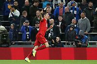 Robert Lewandowski of Bayern Munich celebrates scoring the sixth goal during Tottenham Hotspur vs FC Bayern Munich, UEFA Champions League Football at Tottenham Hotspur Stadium on 1st October 2019