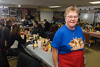 Portrait of Jan Newton lady who makes it all happen @ Takotna Chkpt 2006 Iditarod Takotna Alaska inside