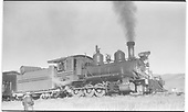 3/4 engineer's-side view of D&amp;RGW #268 at Iola.<br /> D&amp;RGW  Iola, CO  Taken by Perry, Otto C. - 10/10/1952