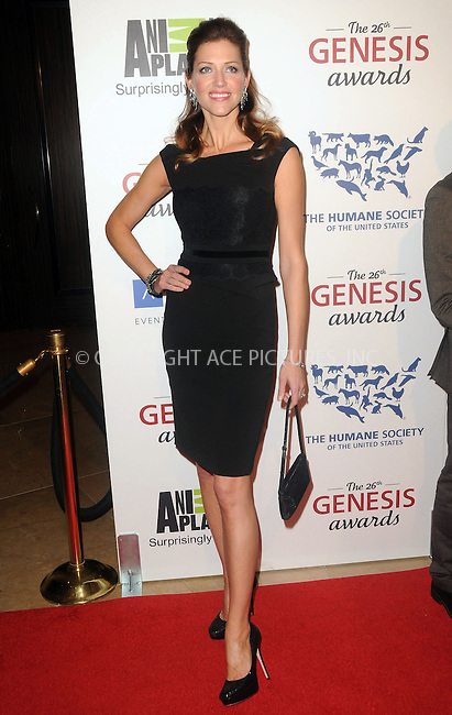 WWW.ACEPIXS.COM . . . . .  ....March 24 2012, LA....Tricia Helfer arriving at the 26th Annual Genesis Awards at The Beverly Hilton Hotel on March 24, 2012 in Beverly Hills, California. ....Please byline: PETER WEST - ACE PICTURES.... *** ***..Ace Pictures, Inc:  ..Philip Vaughan (212) 243-8787 or (646) 769 0430..e-mail: info@acepixs.com..web: http://www.acepixs.com