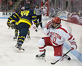 Gabriel Chabot (BU - 10) - The visiting Merrimack College Warriors defeated the Boston University Terriers 4-1 to complete a regular season sweep on Friday, January 27, 2017, at Agganis Arena in Boston, Massachusetts.The visiting Merrimack College Warriors defeated the Boston University Terriers 4-1 to complete a regular season sweep on Friday, January 27, 2017, at Agganis Arena in Boston, Massachusetts.
