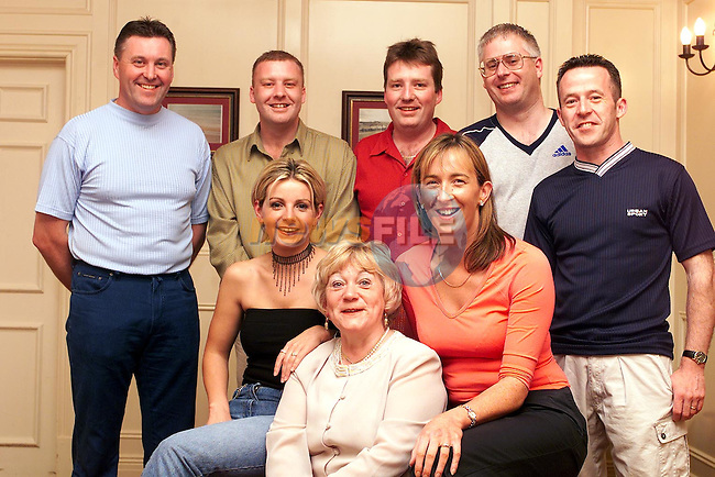 Joe Mohan, Tony Levins, Ken Leonard, Paul Donagh, Seamus McDonagh, Paula Finnegan, Isabel Sanroma and Barbara Byrne at the Race Night organised by Drogheda Concentrates Social Club Committee to raise funds for the Drogheda Chernobyl Childrens Project..Picture Paul Mohan Newsfile
