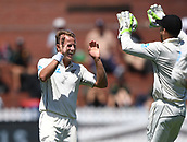 1st December 2017, Basin Reserve, Wellington, New Zealand; International Test Cricket, Day 1, New Zealand versus West Indies;  Niel Wagner celebrates the wicket of Ambris