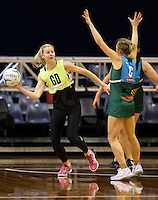 09.10.2016 Silver Ferns Katrina Grant in action during training at the Silver Dome in Launceston in Australia. Mandatory Photo Credit ©Michael Bradley.