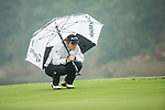 Celine Herbin of France at the 18th hole during Round 4 of the World Ladies Championship 2016 on 13 March 2016 at Mission Hills Olazabal Golf Course in Dongguan, China. Photo by Victor Fraile / Power Sport Images