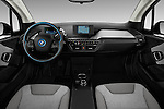Stock photo of straight dashboard view of 2017 BMW I3 Deka-World 5 Door Hatchback Dashboard