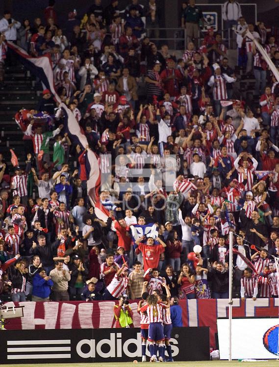 Chivas USA celebrates Ante Razov's goal. Chivas USA beat Toronto FC 2-0 at the Home Depot Center in Carson, California, Saturday, April 7, 2007.