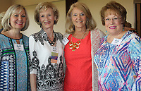 NWA Democrat-Gazette/CARIN SCHOPPMEYER Kim Mertes (from left), Jeretta Hardwick, Marsha Nolan and Alice Phillips enjoy the Circle of Life luncheon on July 25.