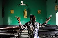 NIGER Zinder, catholic church, the church was demolished by muslim rioters after release of Mohammed movie in 2012 / NIGER Zinder, katholische Kirche wurde von muslimischen Randalierern nach Erscheinen des Mohammed Films 2012 verwuestet