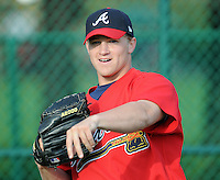 17 March 2009: LHP Tyler Stovall of the Atlanta Braves at Spring Training camp at Disney's Wide World of Sports in Lake Buena Vista, Fla. Photo by:  Tom Priddy/Four Seam Images