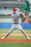 February 22, 2009:  Shortstop Jake Dunning (3) of Indiana University during the Big East-Big Ten Challenge at Naimoli Complex in St. Petersburg, FL.  Photo by:  Mike Janes/Four Seam Images