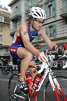 20 AUG 2005 - LAUSANNE, SWITZERLAND - Tim Don (GBR) climbs a hill during the Elite Mens European Triathlon Championships. (PHOTO (C) NIGEL FARROW)