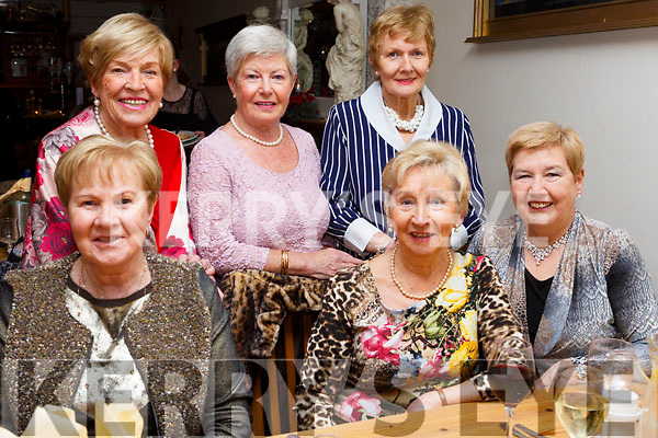 Enjoying the Womens Little Christmas in the Bella Bia  Restaurant on Saturday night, seated l-r, Kitty Moynihan, Phil Casey, Catherine Kearns, Standing l to r, Marie Healy, Maureen Young and Anna Curran.