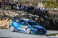 27th October 2019; Salou, Catalonia, Spain; World Rally Championship, Spain Rally;  Evans