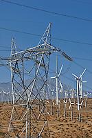San Gorgonio Pass, Coachella Valley, Wind, Turbine, turbines, California, Palm Springs, Wind, Turbines, Green, Energy, field, farm North Palm Springs, CA,
