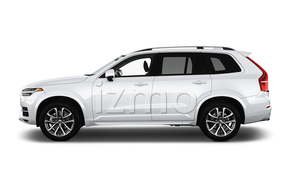 Car driver side profile view of a 2019 Volvo XC90 T5 Momentum AWD 5 Door SUV