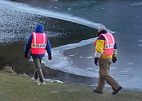 SOUTH WILLIAMSPORT, PA - DECEMBER 20:  Search and Rescue personnel search for a missing Logan Mitcheltree, an autistic nine year old boy December 20, 2004 in South Williamsport, Pennsylvania. Hundreds of volunteers have been searching for the child who disappeared December 18, 2004 during a frigidly cold spell in the region. (Photo by William Thomas Cain/Getty Images)