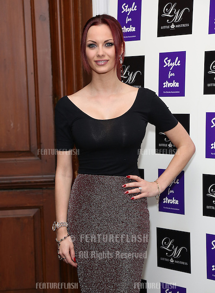 Jessica-Jane Clement arriving for the Style for Stroke Party, 5 Cavendish Square, London. 02/10/2012 Picture by: Henry Harris  / Featureflash