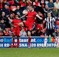 Leyton Orient's Michael Collins controls the ball during the Sky Bet League 2 match between Leyton Orient and Grimsby Town at the Matchroom Stadium, London, England on 11 March 2017. Photo by Carlton Myrie / PRiME Media Images.