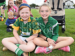 Holly Dunnion and Roisin Quinn at the Duleek GFC family fun day. Photo:Colin Bell/pressphotos.ie