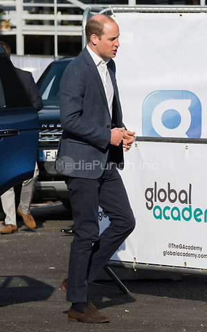 HAYES, UNITED KINGDOM - APRIL 20: William, Duke of Cambridge attends the official opening of The Global Academy in support of Heads Together on April 20, 2017 in Hayes, England. <br /> CAP/JOR<br /> &copy;JOR/Capital Pictures /MediaPunch ***NORTH AND SOUTH AMERICAS ONLY***