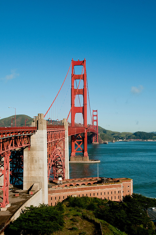 Fort Point, Golden Gate Bridge, San Francisco, California, USA.  Photo copyright Lee Foster.  Photo # california108207