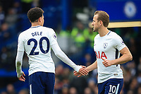 Harry Kane of Spurs & Dele Alli of Spurs during the Premier League match between Chelsea and Tottenham Hotspur at Stamford Bridge, London, England on 1 April 2018. Photo by Andy Rowland.
