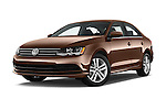 Stock pictures of low aggressive front three quarter view of 2017 Volkswagen Jetta S 4 Door Sedan Low Aggressive