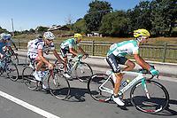 Antonio Piedra, David De La Fuente and Vicent Reynes during the stage of La Vuelta 2012 between La Robla and Lagos de Covadonga.September 2,2012. (ALTERPHOTOS/Paola Otero) /NortePhoto.com<br /> <br /> **CREDITO*OBLIGATORIO** <br /> *No*Venta*A*Terceros*<br /> *No*Sale*So*third*<br /> *** No*Se*Permite*Hacer*Archivo**<br /> *No*Sale*So*third*