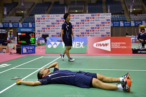 (L to R) Akira Koga (JPN), Akane Yamaguchi (JPN),.OCTOBER 28,2012 - Badminton : Yonex BWF World Junior Mixed team championships 2012 during Mixed Doubles at Chiba Port Arena, Chiba, Japan. (Photo by Jun Tsukida/AFLO SPORT) [0003].