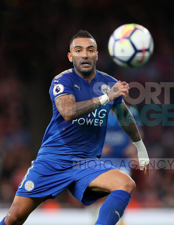 Leicester's Danny Simpson in action during the premier league match at the Emirates Stadium, London. Picture date 11th August 2017. Picture credit should read: David Klein/Sportimage