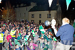 The Milltown/Castlemaine team arrive to a tremendous home coming in Milltown on Monday night..