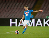 Jorginho <br />  during the  italian serie a soccer match,between SSC Napoli and AC Chievo       at  the San  Paolo   stadium in Naples  Italy , September 25, 2016