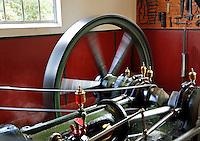 Nederland Arnhem 2015.  Het Nederlands Openluchtmuseum. Stoommachine.  Foto Berlinda van Dam / Nederlandse Hoogte